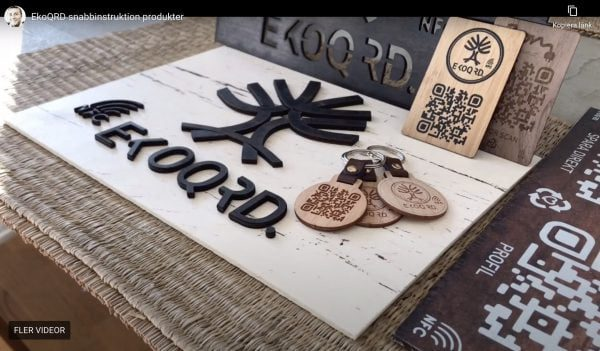 Trä och digitala NFC visitkort i trä och digitalt